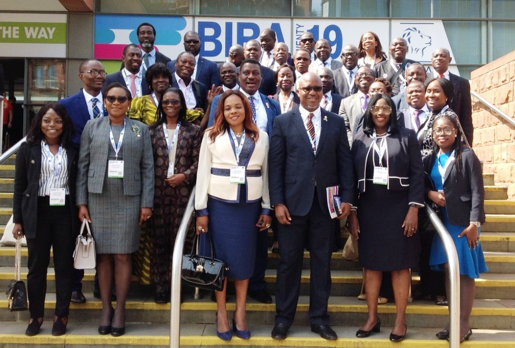 Cross section of Forty Nigerian Delegates led by Mr. Shola Tinubu, President, Nigerian Council of Registered Insurance Brokers (NCRIB) to British Insurance Brokers Association's (BIBA) Conference holding in Manchester, United Kingdom. Delegates were drawn from both Underwriting and Broking arms of the industry