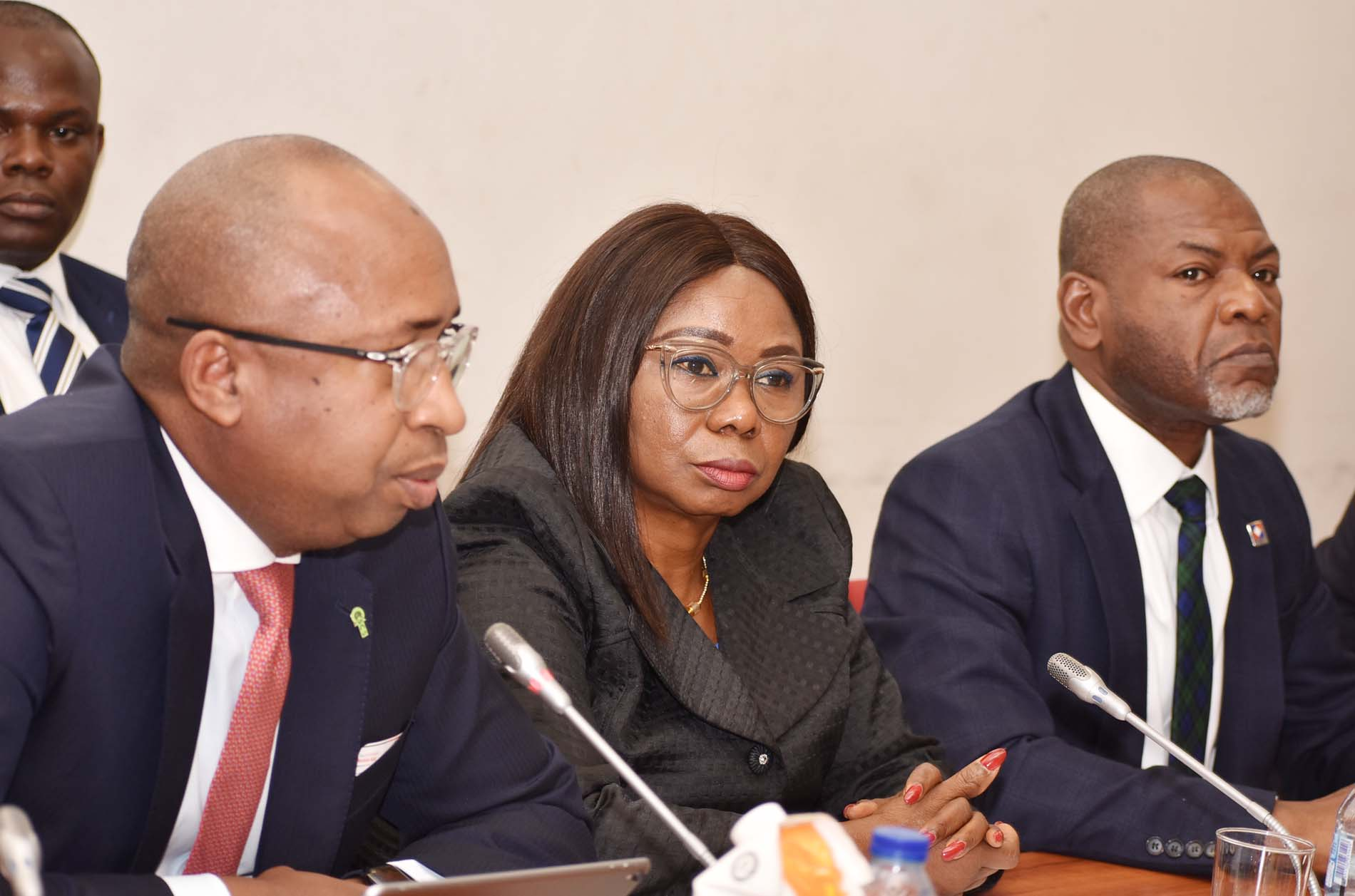 > ASSEMBLY,  1,1A,2,2A,  L-R,  Managing Director, Central Securities > Clearing System, Mr Jalo Waziri, Acting Director General, Securities > and Exchange Commission, Ms Mary Uduk and Managing Director, Nigerian Association of Securities Dealers, Mr Bola Ajomole during an > Interactive Session with the Senate Committee on Capital Market at the National Assembly in Abuja, Tuesday