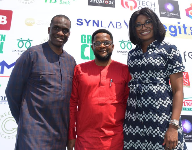 "L-R: Fidelis Anosike, Chairman Folio Group; Dike Dimiri, Regional Manager, Lagos and South West, Heritage Bank and May Ikeora, Green Girl Company Limited, during  the ""Raising Girls Summit ""19"" which held in Lagos, sponsored by Heritage Bank, as part of activities to commemorate the International day of the Girl-Child."