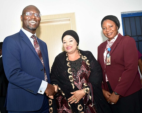 SEC,  1,1A,1B, L-R,  Head Registration, Exchanges, Market Infrastructure and Innovation Department,  Securities and Exchange Commission Mr Emomotimi Agama, Managing Director, Nigeria Commodity Exchange Hajia Zaheera Baba-Ari and Divisional Head, Commodity Exchange Division SEC Mrs Ojone kabir duringa  Capacity Building Program on Commodities Trading Ecosystem for Staff of the Federal Ministries in Abuja, Monday