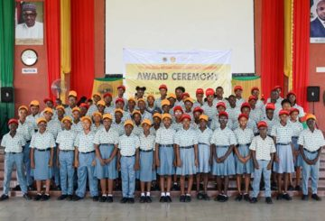 A cross section of the NNPC/SNEPCo National Cradle to Career scholars at the scholarship award ceremony held at Top Faith International Secondary School, Akwa Ibom State… recently
