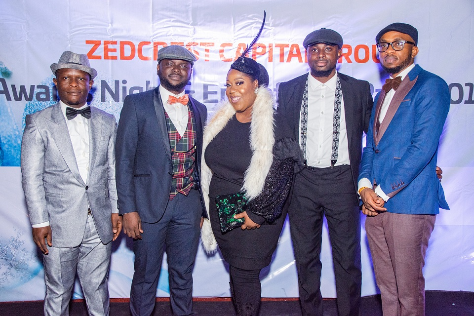 L-R: Babatunde Abdulqadir, Head, Internal Audit; Adedayo Amzat, Group Managing Director; Stella Duru, Non-Executive Director; Idris Bello, Head, Finance, and Ever Obi, Head, Risk Management, all of Zedcrest Capital at the company's End of Year Party in Lagos.