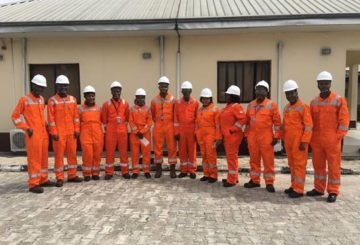 A cross-section of some of the Shell Nigeria Sabbatical and Research Internship participants during a visit to a Shell Petroleum Development Company Joint Venture flow-station in Port Harcourt, Rivers State as part of their induction programme.