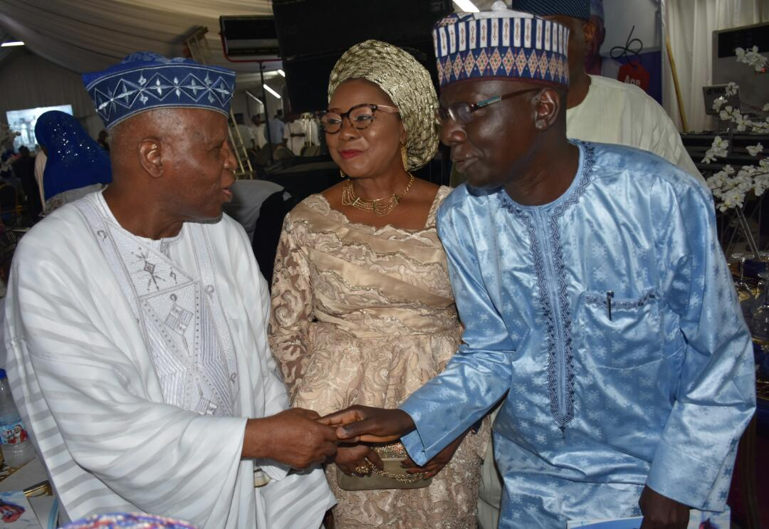 pIX 2 &3: From left;Former Governor Central Bank of Nigeria;Chief Joseph Oladele Sanusi;Acting Director-General Securities and Exchange Commission, Nigeria Ms Mary Uduk; Acting Executive Commissioner Operations SEC, Mr Isyaku Tilde at the 7th day Fidau prayer & Reception for Late SEC Chairman, Alhaji Gbadamosi Otiti in Lagos, weekend