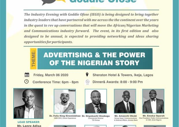 IMC Experts Set To Discuss 'Advertising And Power Of Nigerian Story' At Industry Evening