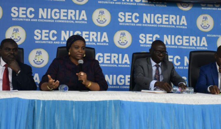Photos: A meeting between the SEC and Issuers on Transaction Cost in Lagos