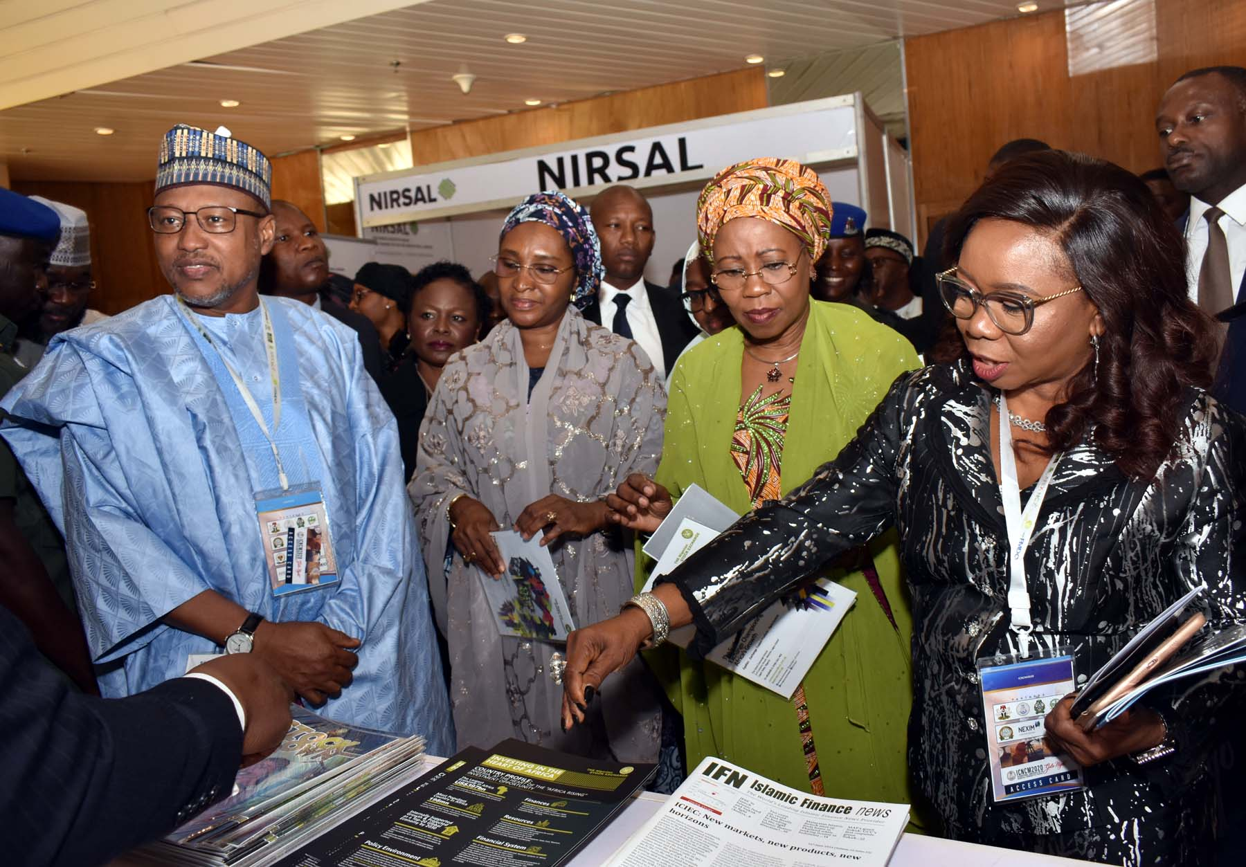 LR,  Chairman, House Committee on Capital Market Hun > Babangida Ibrahim, Minister of Finance, Budget and National Planning > Mrs Zainab Ahmed, Minister of State for Industry, Trade and Investment > Mrs Mariam Katagum  and Acting Director General Securities and > Exchange Commission Ms Mary Uduk during the International Conference > on Nigerian Commodities Market in Abuja, Monday >
