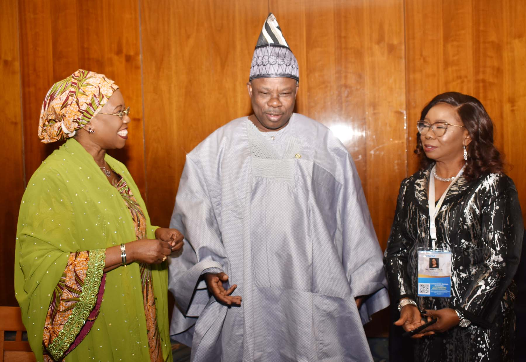 LR,  and Minister of State for Industry, Trade and > Investment Mrs Mariam Katagum, Chairman, Senate Committee on Capital > Market Sen Ibikunle Amosun  and Acting Director General Securities and > Exchange Commission Ms Mary Uduk during the International Conference > on Nigerian Commodities Market in Abuja, Monday