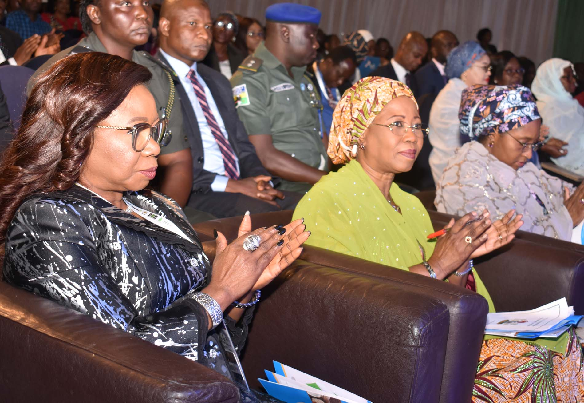 LR,  Acting Director General Securities and Exchange > Commission Ms Mary Uduk , Minister of State for Industry, Trade and > Investment Mrs Mariam Katagum and Minister of Finance, Budget and > National Planning Mrs Zainab Ahmed during the International Conference > on Nigerian Commodities Market in Abuja, Monday >