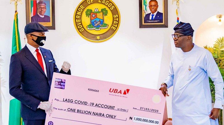 COVID-19: UBA Gives Sanwo-Olu N1b
