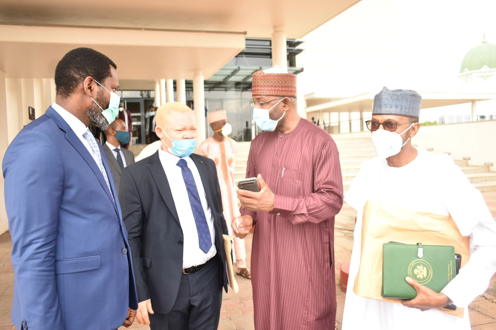 L-R,  Incoming Executive Commissioners,Securities and Exchange Commission, Mr Temidayo Obisan, Mr Reginald Karawusa, Incoming Director General SEC Mr Lamido Yuguda and Mr Ibrahim Boyi during the Screening of Nominees of   Director General and Full Time Commissioners of SEC in Abuja yesterday