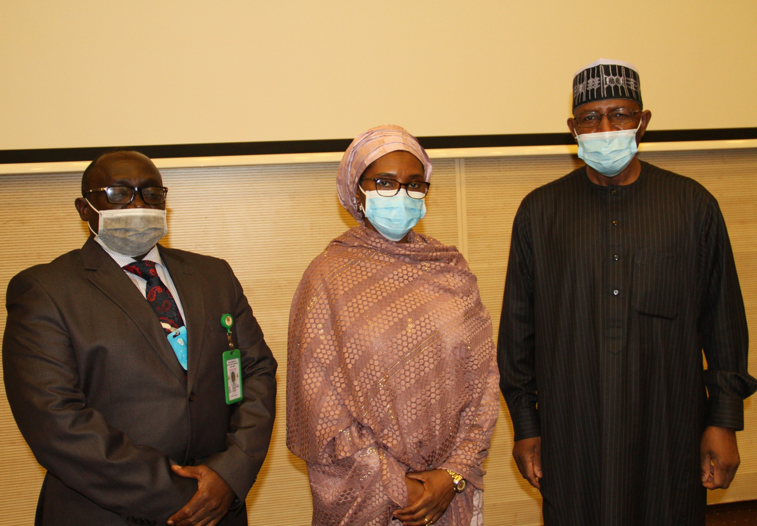 L-R,   Chairman, Investments and Securities Tribunal Mr Amos Azi, Minister of Finance, Budget and National Planning Mrs Zainab Ahmed and Director General, Securities and Exchange Commission Mr Lamido Yuguda during the Inauguration of the IST Board Members by the Minister of Finance in Abuja