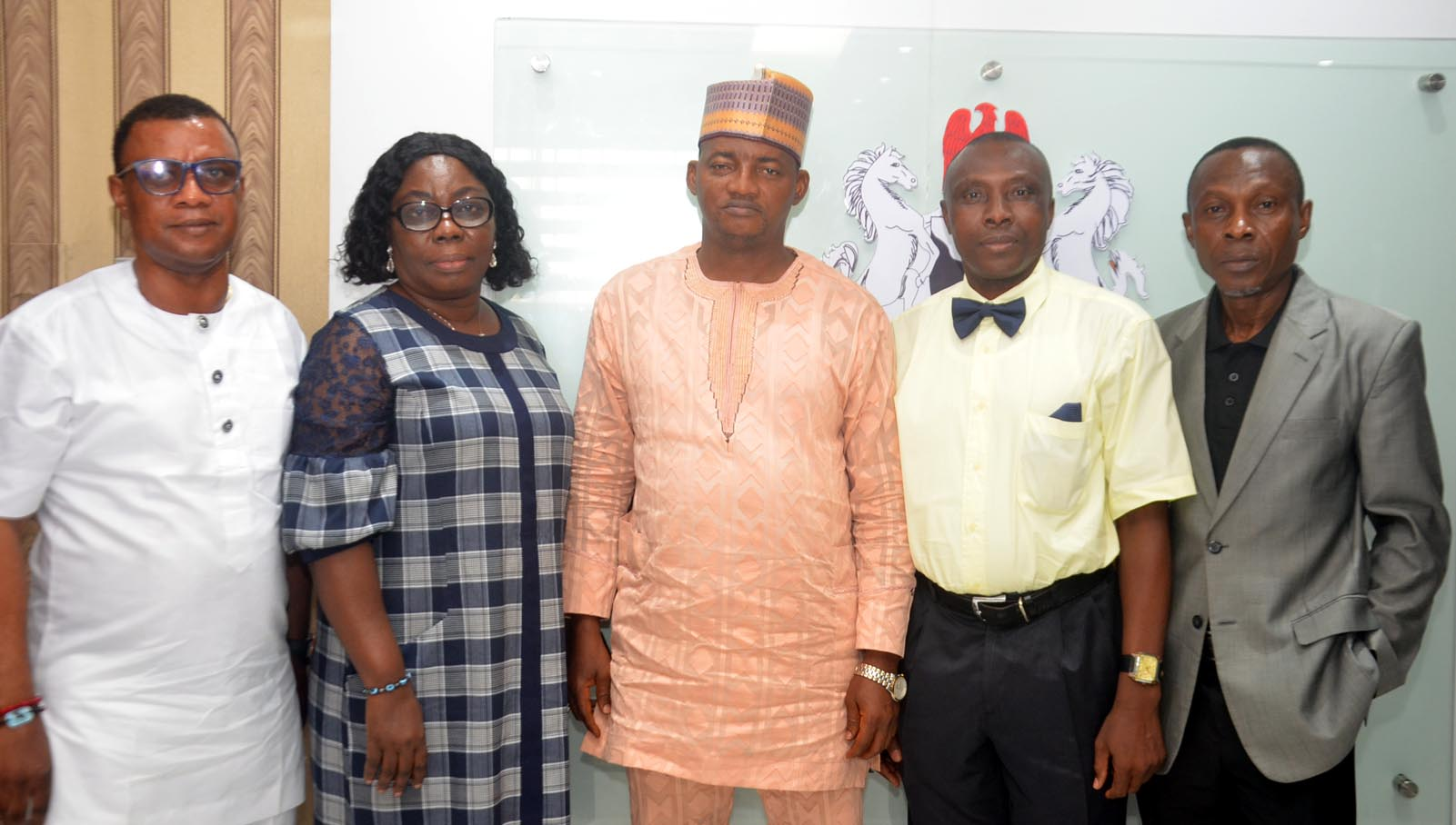 L-R: Mr. Goddie Ofose, Immediate past Chairman, Brand Journalists Association of Nigeria (BJAN), Mrs. Ijedi Iyoha, Deputy Director Regulations, APCON, Dr. Olalekan Fadolapo, Registrar/CEO, Advertising Practitioners Council of Nigeria (APCON), Mr. Princewill Ekwujuru, Chairman, BJAN and Mr. Joe-Eugene Onuorah, Deputy Director, Professional Development, APCON during BJAN Executives courtesy visit to APCON Registrar in Lagos recently.